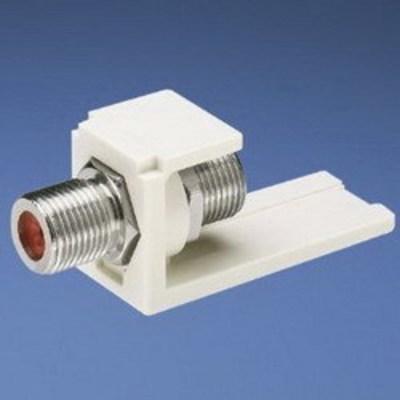 Panduit CMFIW Panduit CMFIW Mini-Com® Straight F-Type Coaxial Coupler Module; Off White