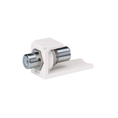 Panduit CMRPWWH Panduit CMRPWWH Mini-Com® RCA Module; 1 Contact, 0.61 Inch Width x 0.72 Inch Height x 1.68 Inch Depth, Pass-Through, Panel Mount, Plastic, White