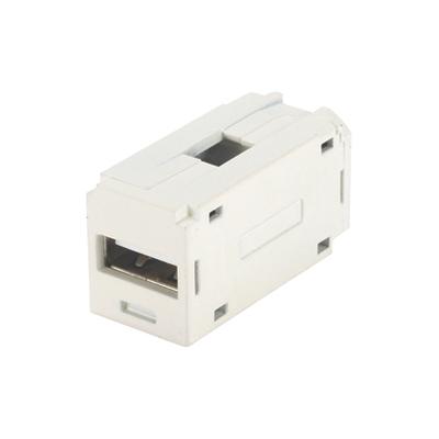 Panduit CMUSBAAEI Panduit CMUSBAAEI Mini-Com® USB Coupler Module; USB 2.0 Female A to Female A Coupler, Electric Ivory