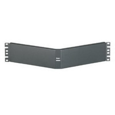 Panduit CPAF2BLY Panduit CPAF2BLY Angled Filler Panel; 19 Inch Width x 4.160 Inch Depth x 3.470 Inch Height, 2-Rack Unit, Screw Mount, Black