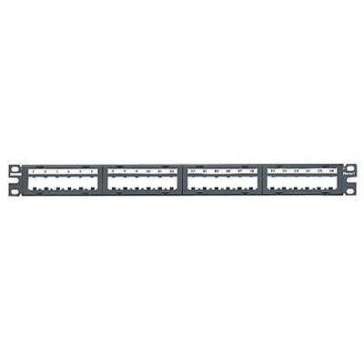 Panduit CPPL24M6BLY Panduit CPPL24M6BLY Mini-Com® Flat Unshielded Modular Patch Panel; 24-Port, Stainless steel, Black, 19 Inch Faceplate Mount