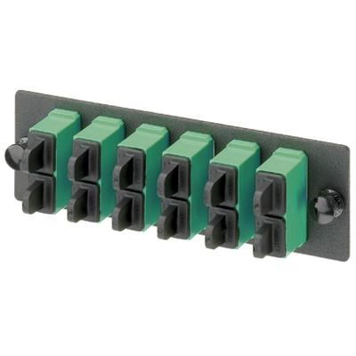 Panduit FAP2WAGDSCZ Panduit FAP2WAGDSCZ Opticom® Fiber Adapter Panel; 6-Port, SC Duplex, OS1/OS2 Single Mode, Zirconia Ceramic, Black