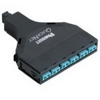 Panduit FQXN-12-10AS Panduit FQXN-12-10AS QuickNet™ SFQ Series Method A Standard QN Fiber Optics Cassette; 50/125 um, OM3 10 GbE Duplex, 12-Fiber