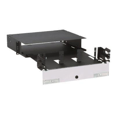 Panduit FRME2U Panduit FRME2U Opticom® Rack Mount Fiber Enclosure; 72-Port2-Rack Unit, Black