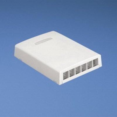 Panduit GM-A0904BL Panduit NK6BXIW-A NetKey® Low Profile Surface Mount Box; ABS, Off-White, (6) Port