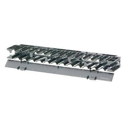 Panduit NCMHF1 Panduit NCMHF1 NetManager™ Front Horizontal Network Cable Manager; 1-Rack Unit, Plastic, Black, Powder-Coated