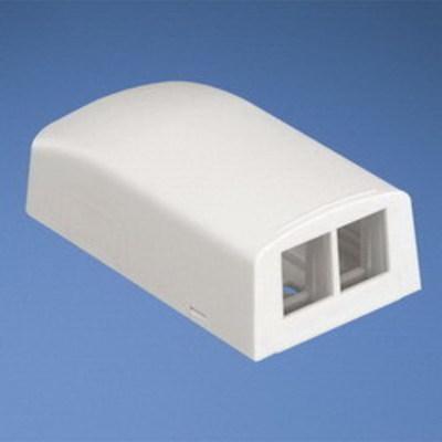 Panduit NK2BXEI-A Panduit NK2BXEI-A NetKey® Low Profile Surface Mount Box; Electric Ivory, (2) Port
