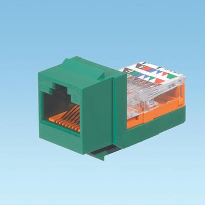 Panduit NK5E88MGRY Panduit NK5E88MGRY NetKey® Universal Category 5e/Class D Keystone Jack Module; 8P, Green