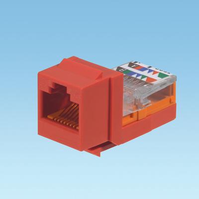 Panduit NK5E88MRDY Panduit NK5E88MRDY NetKey® Universal Category 5e/Class D Keystone Jack Module; 8P, Red