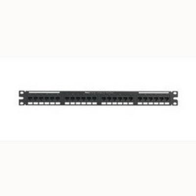 Panduit NK5EPPG24Y Panduit NK5EPPG24Y NetKey® Category 5e Punchdown Patch Panel; 24-Port, 1-Rack Unit, Black