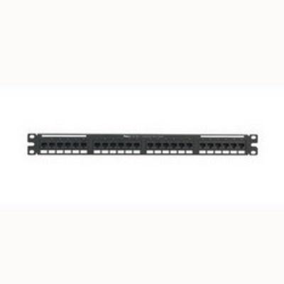 Panduit NK6PPG24Y Panduit NK6PPG24Y NetKey® Category 6 Punchdown Patch Panel; 24-Port, 1-Rack Unit, Black