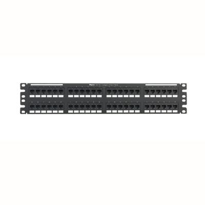 Panduit NK6PPG48Y Panduit NK6PPG48Y NetKey® Category 6 Punchdown Patch Panel; 48-Port, 2-Rack Unit, Black
