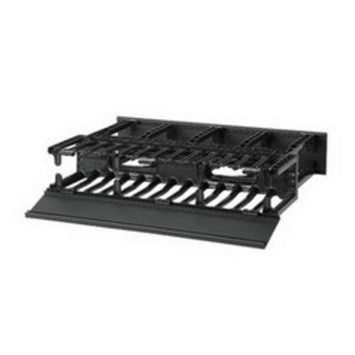 Panduit NM2 Panduit NM2 NetManager™ High Capacity Front and Rear Horizontal Cable Manager; 2-Rack Unit, Fully Molded ABS Plastic, Black