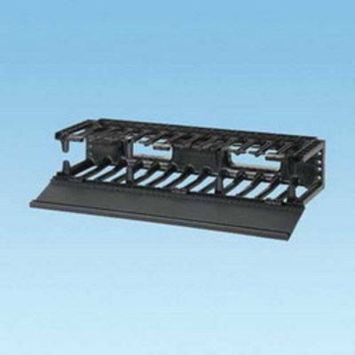 Panduit NMF2 Panduit NMF2 NetManager™ High Capacity Front Horizontal Cable Manager; 2-Rack Unit, Fully Molded ABS Plastic, Black