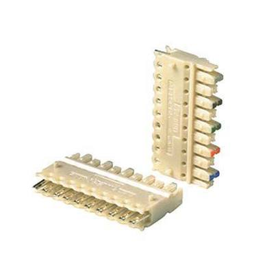 Panduit P110CB5-XY Panduit P110CB5-XY Pan-Punch™ 110-Punchdown Category 5e Punchdown Connecting Block; 5-Pair, Electric Ivory