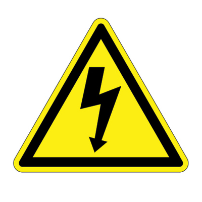 Panduit PESW-A-1Y Panduit PESW-A-1Y Triangle Shaped ISO Pictogram Warning Symbol Label; Adhesive Vinyl, Black On Yellow
