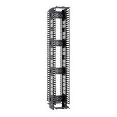 Panduit PEV6 Panduit PEV6 PatchRunner™ High Capacity Double-Sided Cable Manager; Vertical Mount, 45-Rack Unit, Black
