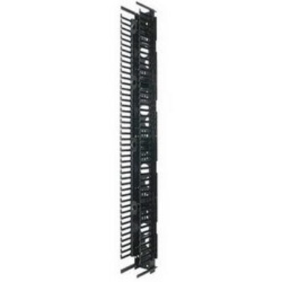 Panduit PRVF6 Panduit PRVF6 PatchRunner™ Front Vertical Cable Manager; 45-Rack Unit, Steel Back with ABS Fingers, Black