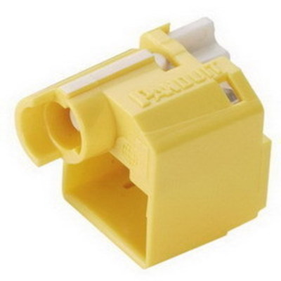 Panduit PSL-DCPLRX-YL-C Panduit PSL-DCPLRX-YL-C Recessed RJ45 Plug Lock-In Device; Polycarbonate, Yellow, 100/Pack