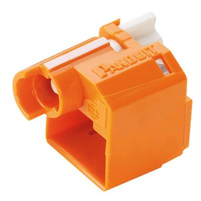 Panduit PSL-DCPLX-OR-C Panduit PSL-DCPLX-OR-C Recessed RJ45 Plug Lock-In Device; Polycarbonate, Orange, 100/Pack