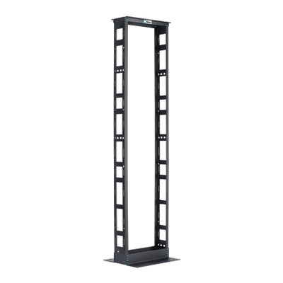 Panduit R2P6S96 Panduit R2P6S96 2-Post Rack; 96 Inch Height x 20.3 Inch Width x 6 Inch Depth, Steel, Black, For Mounting Telecommunication and Data Center Equipment
