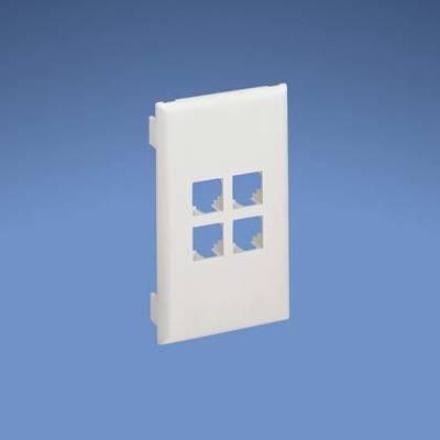 Panduit T70NV4IW Panduit T70NV4IW Pan-Way® Faceplate; PVC, Off White