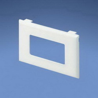 Panduit T70PGIW Panduit T70PGIW Pan-Way® 1-Gang Standard Faceplate Bracket; Plastic, Off White