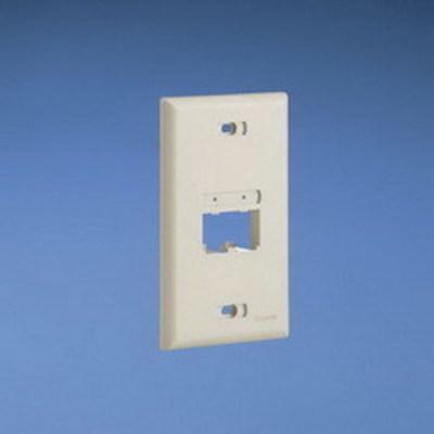 Panduit UICFP2WH Panduit UICFP2WH Mini-Com® Ultimate ID 1-Gang Flat Faceplate; (2) UTP, STP, Fiber-Optic, A/V Port, ABS, White