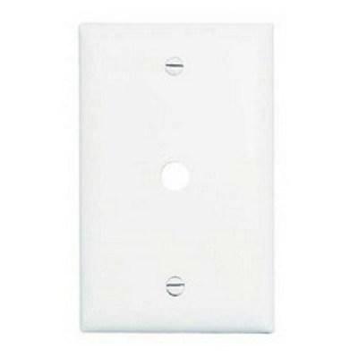 Pass & Seymour TP11W Pass & Seymour TP11-W TradeMaster® Standard Size 1-Gang Wallplate; Box Mount, Nylon, White