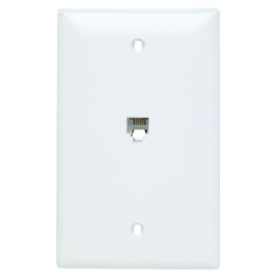 Pass & Seymour TPTE1W On-Q TPTE1-W Standard Size 1-Gang Communication Wallplate; Flush Mount, Thermoplastic, White