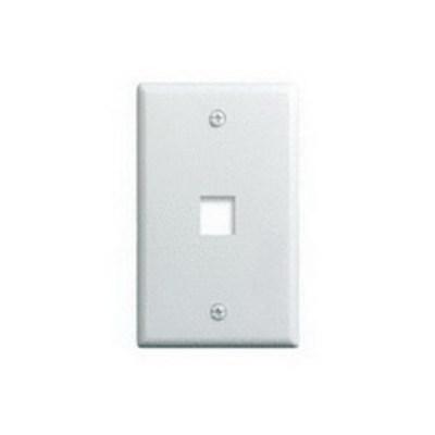 Pass & Seymour WP3401-WH-25 On-Q WP3401-WH-25 1-Gang Wallplate; Wall Box, (1) Receptacle, (1) Keystone, High Impact Flame Retardant Plastic, White