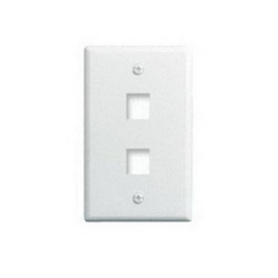 Pass & Seymour WP3402-WH-25 On-Q WP3402-WH-25 1-Gang Wallplate; Wall Box, (2) Receptacles, (2) Keystones, High Impact Flame Retardant Plastic, White