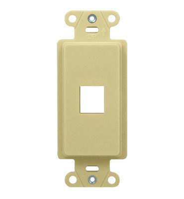 Pass & Seymour WP3411-IV On-Q WP3411-IV 1-Gang Outlet Strap; Wall Box, (1) Keystone, High Impact Flame Retardant Plastic, Ivory