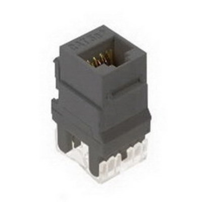 Pass & Seymour WP3450-GY On-Q WP3450-GY Category 5e RJ45 Keystone Connector; Vertical Mount, 8P8C, Gray