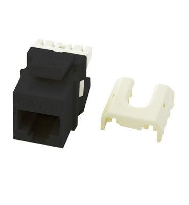 Pass & Seymour WP3476-BK On-Q WP3476-BK Keystone Insert; Wallplate Or Strap Mount, High-Impact Flame Retardant Plastic, Black