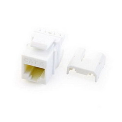 Pass & Seymour WP3476-WH On-Q WP3476-WH Quick Connect Category 6A RJ45 Female Keystone Insert; Wallplate or Strap Mount, 8P8C, White