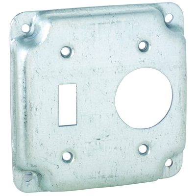RACO 805C 805C RACO 4SQ EXP COVER - 1 TOGGLE / 1 RECEPTACLE