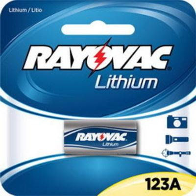 Rayovac RL123A-1G Rayovac RL123A-1 Photo Battery Pack; 3 Volt Nominal, 1400 Milli-Amp-Hour