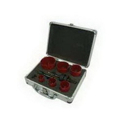Southwire 57178501 Southwire BMHS10 Bi-Metal Hole Saw Set; 7/8 - 2-1/2 Inch Hole, 3/8 Inch Arbor