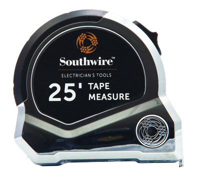 Southwire 58288340 Southwire ETAPE Measuring Tape With Conduit Hook; 25 ft Length, Heat-Treated Spring Steel