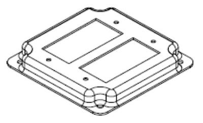 Topaz Electrical Fittings C2240 C2240 TOPAZ 4IN STL BOX COVER