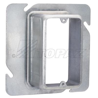 Topaz Electrical Fittings F1459 F1459 TOPAZ 1G SQUARE BOX DEV RING