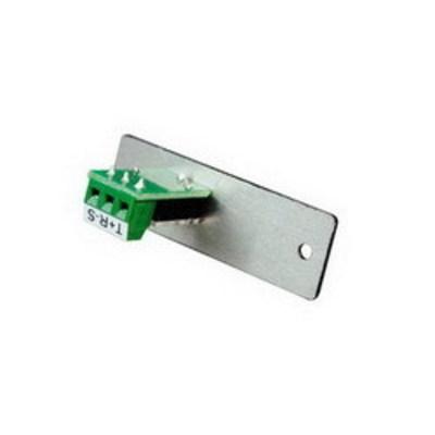 Wiremold  AV7005BK Wiremold AV7005BK AVIP Series Single Device Plate; (1) 3.5 mm Stereo Mini Jack to Captive Screw Terminal, Black