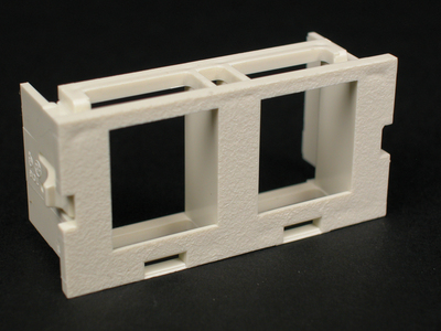 Wiremold  CM2-U2KEYA Wiremold CM2-U2KEYA CM Series Dual Flush Mount Unloaded Keystone Module; Plastic, Ivory